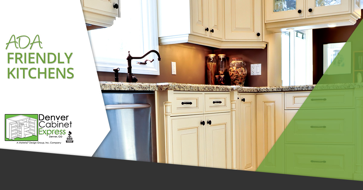 Ada friendly kitchens for Kitchen cabinets express