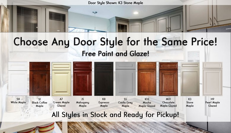 Pick any door style/color combo and pay the same price!